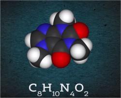 Молекула кофеина безноата натрия